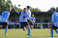 Jack Hayward of Worthing United scores to put his side 1-0 in front during the FA Vase 1st Qualifying Round match between Worthing United and East Preston FC at the Robert Eaton Memorial Ground, Worthing, United Kingdom on 6 September 2015. Photo by Phil Duncan.