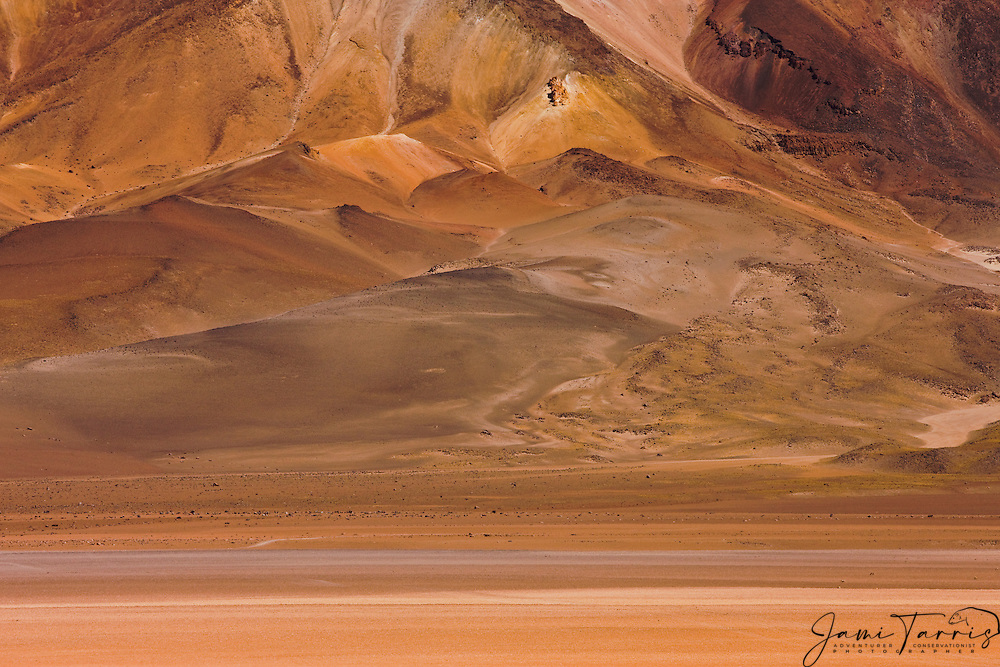 Colorful patterns of mineral rich mountains on the Altiplano of southwestern Bolivia, Bolivia,South America
