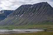 Thingeyri fjord in the Westfjords. Iceland