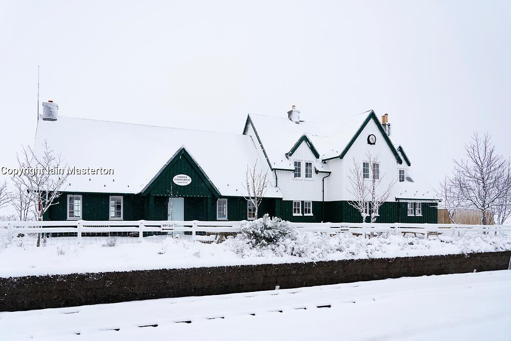 Corrour Station House at Corrour Station on the west Highland railway line, Highland, Scotland, UK