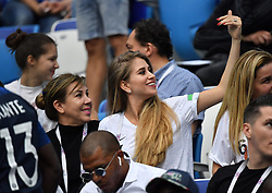 Paul Bogba 's girlfriend Maria Salaues during the FIFA World Cup 2018 Round of 8 match at the Nizhny Novgorod Stadium Russia, on July 6, 2018. . Photo by Christian Liewig/ABACAPRESS.COM