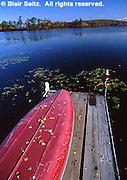 Northeast PA Landscape, Pocono lakes, canoe and dock