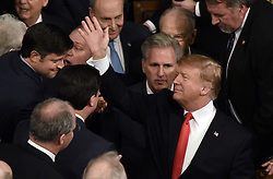 U.S. President Donald J. Trump arrives for the State of the Union address in the chamber of the U.S. House of Representatives February 5, 2019 in Washington, DC. DC.Photo by Olivier Douliery/ABACAPRESS.COM