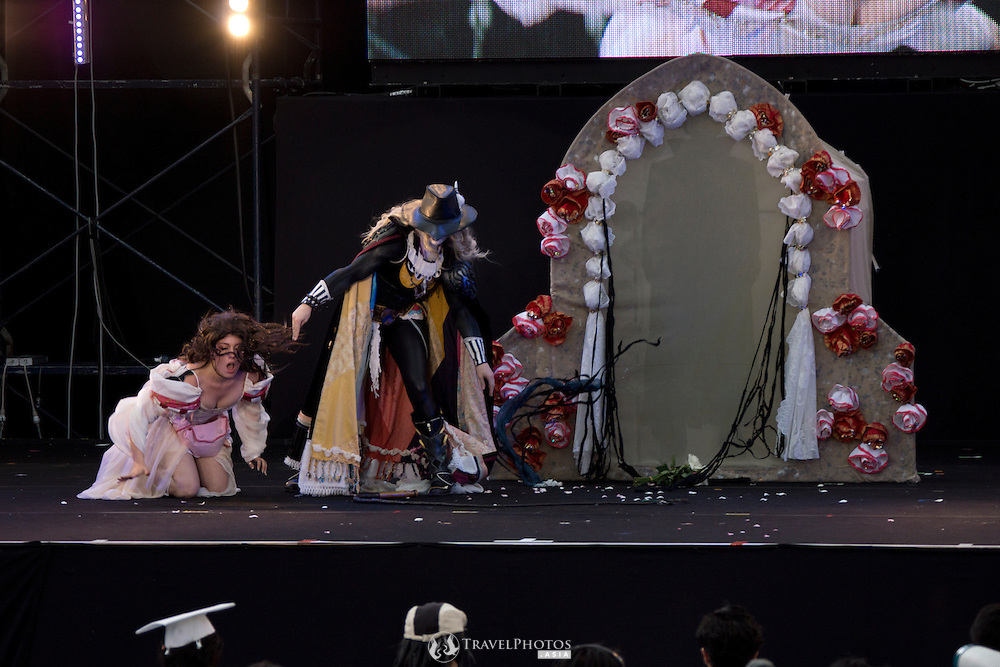 The British team performing at the World Cosplay Summit championship at Oasis 21 on the 10th anniversary.