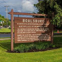 The Boalsburg sign explaining the Birthplace of Memorial Day