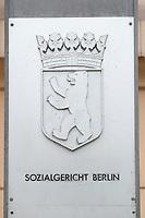 31 MAY 2010, BERLIN/GERMANY:<br /> Schild am Haupteingang, Sozialgericht Berlin<br /> IMAGE: 20100531-01-045