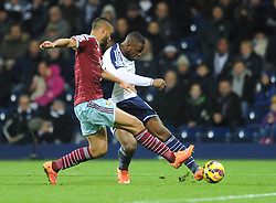 West Bromwich Albion's Victor Anichebe takes a shot at goal. - Photo mandatory by-line: Dougie Allward/JMP - Mobile: 07966 386802 - 02/12/2014 - SPORT - Football - West Bromwich - The Hawthorns - West Bromwich Albion v West Ham United - Barclays Premier League