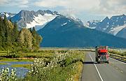 Seward Highway scenic route through the Chugach mountains
