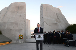 April 4, 2017 - Washington, DC, United States of America - U.S. Secretary of the Interior Ryan Zinke speaks at a candlelight vigil at the Martin Luther King Jr. Memorial April 4, 2017 in Washington, DC. The event marks the 49th anniversary of the assassination of King. (Credit Image: © Doi/Planet Pix via ZUMA Wire)