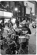 Musicians in times Sq. New York. 1994. © Copyright Photograph by Dafydd Jones 66 Stockwell Park Rd. London SW9 0DA Tel 020 7733 0108 www.dafjones.com