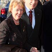 NLD/Amsterdam/20080201 - Verjaardagsfeest Koninging Beatrix en prinses Margriet, Wim Deetman en partner
