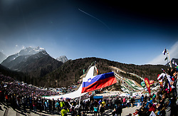 Planica Hill during Ski Flying Hill Men's Team Competition at Day 3 of FIS Ski Jumping World Cup Final 2017, on March 25, 2017 in Planica, Slovenia. Photo by Vid Ponikvar / Sportida