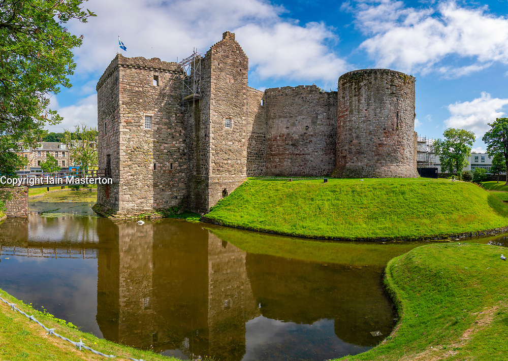Exterior view of Rothesay Castle in Rothesay, Isle of Bute, Argyll and Bute, Scotland, UK