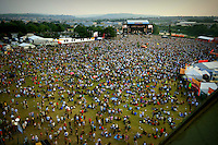 The crowds at the main stage, Isle of Wight Rock Festival