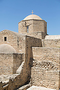Architecture of church building made of stone, Paphos, Cyprus