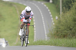July 28, 2018 - Pau, FRANCE - Belgian Jasper Stuyven of Trek-Segafredo pictured in action during the 20th stage of the 105th edition of the Tour de France cycling race, a 31km individual time trial from Saint-Pee-sur-Nivelle to Espelette, France, Saturday 28 July 2018. This year's Tour de France takes place from July 7th to July 29th...BELGA PHOTO YORICK JANSENS (Credit Image: © Yorick Jansens/Belga via ZUMA Press)