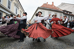 "Members of Academic folklore dance group ""Student"" during during martinovanje, St. Martin's Day Celebration on November 11, 2019 in Maribor, Slovenia. Photo by Milos Vujinovic / Sportida"