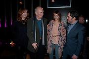 ELIZABETH BERRINGTON; ; ALAN AYCKBOURN; KARA TOINTON; REECE SHEARSMITH , Absent Friends - press night  afterparty. Mint Leaf. Haymarket. London. Thursday 9 February 2012