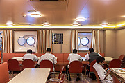 COSTA CROCIERE: sala da pranzo riservata al personale. eating room fot the staff