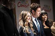 From left, Seal, Sarah Jessica Parker, Gerard Butler and Jennifer Hudson during a press conference for the Nobel Peace Prize concert in Oslo.