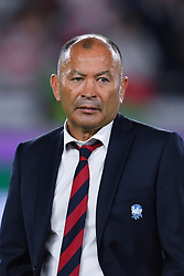 England's head coach Eddie Jones after their 32-12 defeat in the 2019 Rugby World Cup final match at Yokohama Stadium.