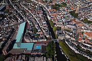 Nederland, Groningen, Groningen Stad, 08-09-2009; westrand binnenstad, met aan het water hoek  Praediniussingel het Natuurmuseum, rechstboven de Der Aa-kerk,  links  Westerhaven (appartementengebouw , winkels , ondergrondse parkeergarage).Western city centre.luchtfoto (toeslag); aerial photo (additional fee required); .foto/photo  Siebe Swart