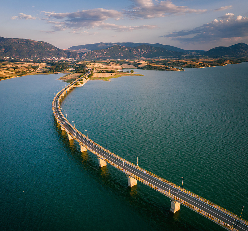 The bridge of lake Polyphytos near Servia, Greece