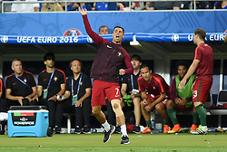 Cristiano Ronaldo of Portugal reacts on the touch line  - Mandatory by-line: Joe Meredith/JMP - 10/07/2016 - FOOTBALL - Stade de France - Saint-Denis, France - Portugal v France - UEFA European Championship Final