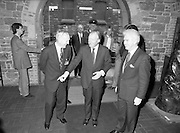 19/08/1988<br /> 08/19/1988<br /> 19 August 1988<br /> Taoiseach visits ROSC '88 at the Guinness Hop Store, Dublin. Taoiseach Charles Haughey entering the Hop Store, Pat Murphy ROSC chairman on the right and Mr Brian Slowey,Managing Director, Guinness,Ireland on the left.