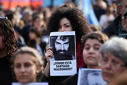 September 1, 2017 - Buenos Aires, Buenos Aires, Argentina - A demonstration was carried out to ask for the appearance of Santiago Maldonado, the artisan whose whereabouts has not been known since August 1st. (Credit Image: © Claudio Santisteban via ZUMA Wire)