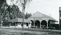 1909 Los Angeles Pacific RR's ticket office on Hollywood Blvd. & Ivar St.