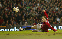 Photo: Aidan Ellis.<br /> Manchester United v West Ham United. The Barclays Premiership. 29/03/2006.<br /> United's Wayne Rooney scores but the goal is ruled offside