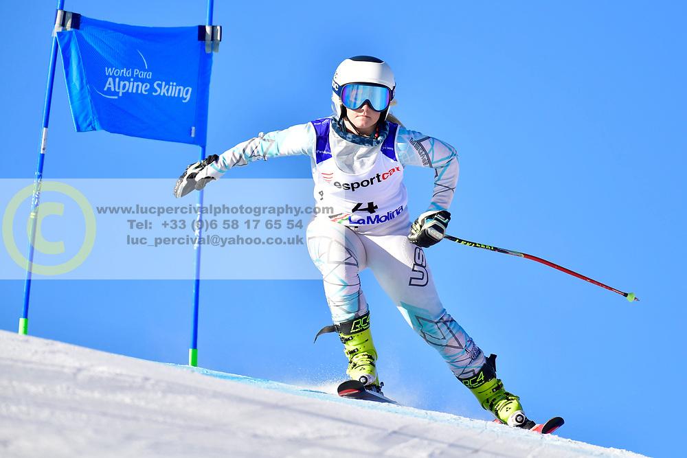 KUNKEL Ally, LW6/8-2, USA, Giant Slalom at the WPAS_2019 Alpine Skiing World Cup, La Molina, Spain