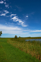 Midwest Summer Sky Panorama. Rest Area along Interstate 29 in South Dakota. Image 4 of 9 taken with a Nikon D3x and 24 mm f/1.4G lens (ISO 100, 24 mm, f/11, 1/800 sec).