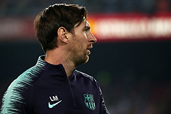 October 20, 2018 - Barcelona, Catalonia, Spain - Leo Messi during the match between FC Barcelona and Sevilla CF, corresponding to the week 9 of the Liga Santander, played at the Camp Nou, on 20th October 2018, in Barcelona, Spain. (Credit Image: © Joan Valls/NurPhoto via ZUMA Press)