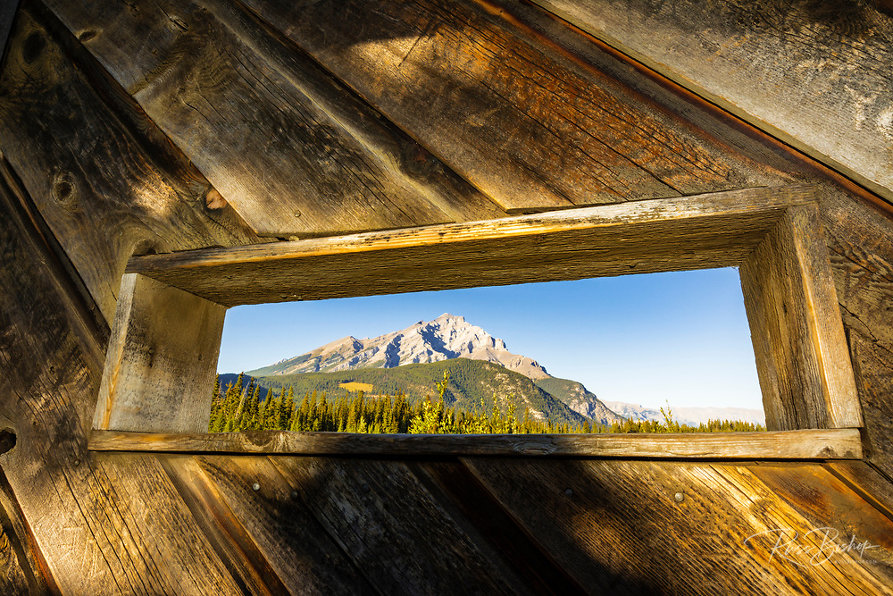 Wildlife viewing blind at Cave and Basin National Historic Site, Banff National Park, Alberta, Canada