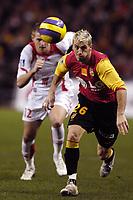 Fotball<br /> Frankrike<br /> Foto: Dppi/Digitalsport<br /> NORWAY ONLY<br /> <br /> FOOTBALL - FRENCH CHAMPIONSHIP 2006/2007 - LEAGUE 1 - RC LENS v LILLE OSC - 13/01/2007 - YOHAN DEMONT (LENS) / MATHIEU BODMER (LIL)