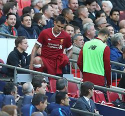 22 October 2017 Wembley: Premier League Football: Tottenham Hotspur v Liverpool: Dejan Lovren of Liverpool is substituted after thirty minutes.<br /> Photo: Mark Leech