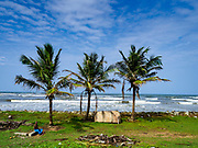06 OCTOBER 2017 - MORATUWA, WESTERN PROVINCE, SRI LANKA: The train from Colombo to Galle rolls through the countryside south of Colombo.       PHOTO BY JACK KURTZ