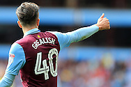 Jack Grealish of Aston Villa looks on giving the thumbs up signal. EFL Skybet championship match, Aston Villa v Rotherham Utd at Villa Park in Birmingham, The Midlands on Saturday 13th August 2016.<br /> pic by Andrew Orchard, Andrew Orchard sports photography.