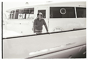 ROBERT MAXWELL ON THE LADY GHISLAINE, Party in the harbour on Rupert Murdoch's yacht.  Forbes weekend, TANGIER 1989