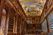 Philosophical Hall of Strahov Library in Prague, Czech Republic