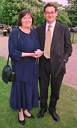 MRS CLARE SHORT MP and her son MR TOBY GRAHAM, at a party in London on 7th July 1999.MUC 32