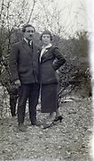 adult man with a younger female person posing 1920s
