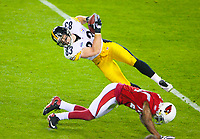 ©2008 Tom DiPace Photography<br /> All Rights Reserved<br /> 561.968.0600/Cell 561 .818.8288<br /> All Rights Reserved<br /> tdfoto@comcast.net<br /> Steelers@Cardinals SuperbowlXLIII Steelers win 27-23<br /> Raymond James Stadium<br /> Heath Miller  Steelers <br /> <br />  ByTom DiPace©