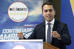 Italy, Rome - May 2, 2019.The Italian deputy prime minister and labour minister Luigi di Maio talks about the program of Movement 5 Stars (Movimento 5 Stelle) for the next European elections. (Credit Image: © Zucchi/Insidefoto/Ropi via ZUMA Press)