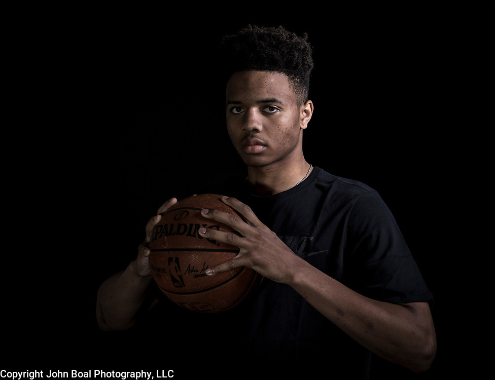 """Markelle Fultz at the North Laurel Community Center ahead of the NBA Draft, in Laurel, MD, on Monday, June 12, 2017. Fultz, 19, a 6'6"""" point guard, played one year at the University of Washington and is expected to be the first pick in the NBA draft by the Boston Celtics. John Boal/for The Boston Globe"""