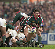 Leicester, Leicestershire, 3rd May 2003, Welford Road Stadium, [Mandatory Credit: Peter Spurrier/Intersport Images],Zurich Premiership Rugby - Leicester Tigers v London Irish<br /> Harry Ellis