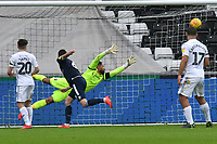 Football - 2018 / 2019 Sky Bet EFL Championship - Swansea City vs. Millwall<br /> <br /> Jordan Archer of Millwall cannot save the shot of George Byers of Swansea City who scores his team's first goal, at The Liberty Stadium.<br /> <br /> COLORSPORT/WINSTON BYNORTH
