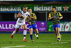 Gael Fickou of Toulouse makes a break - Mandatory by-line: Craig Thomas/JMP - 14/01/2018 - RUGBY - BT Sport Cardiff Arms Park - Cardiff, Wales - Cardiff Blues v Toulouse - European Rugby Challenge Cup